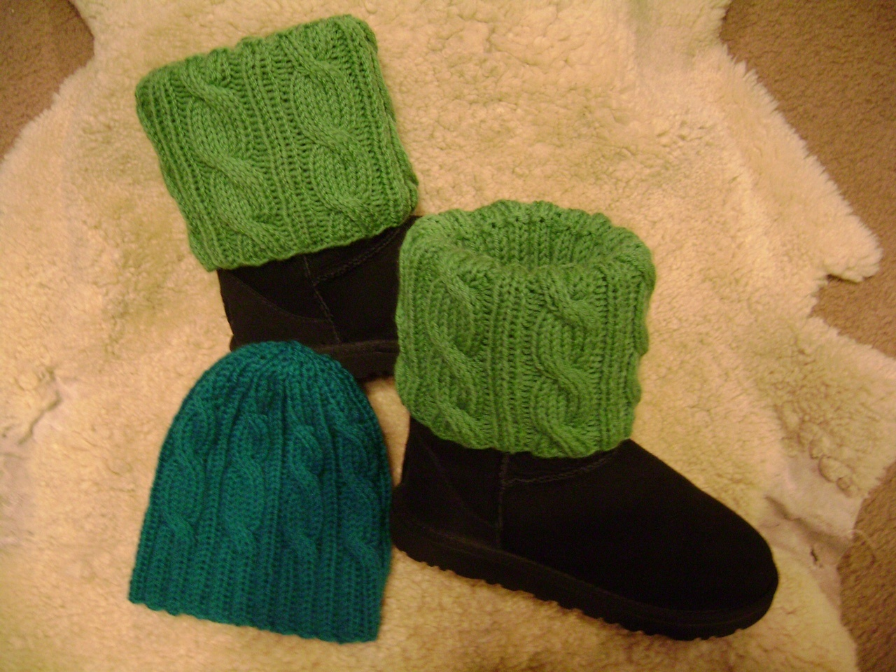 Cabled Hat & Boot toppers-Pattern Download | Starla Knits